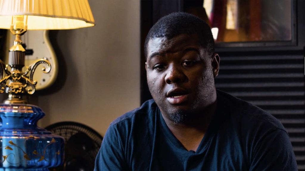 Black men being interviewed